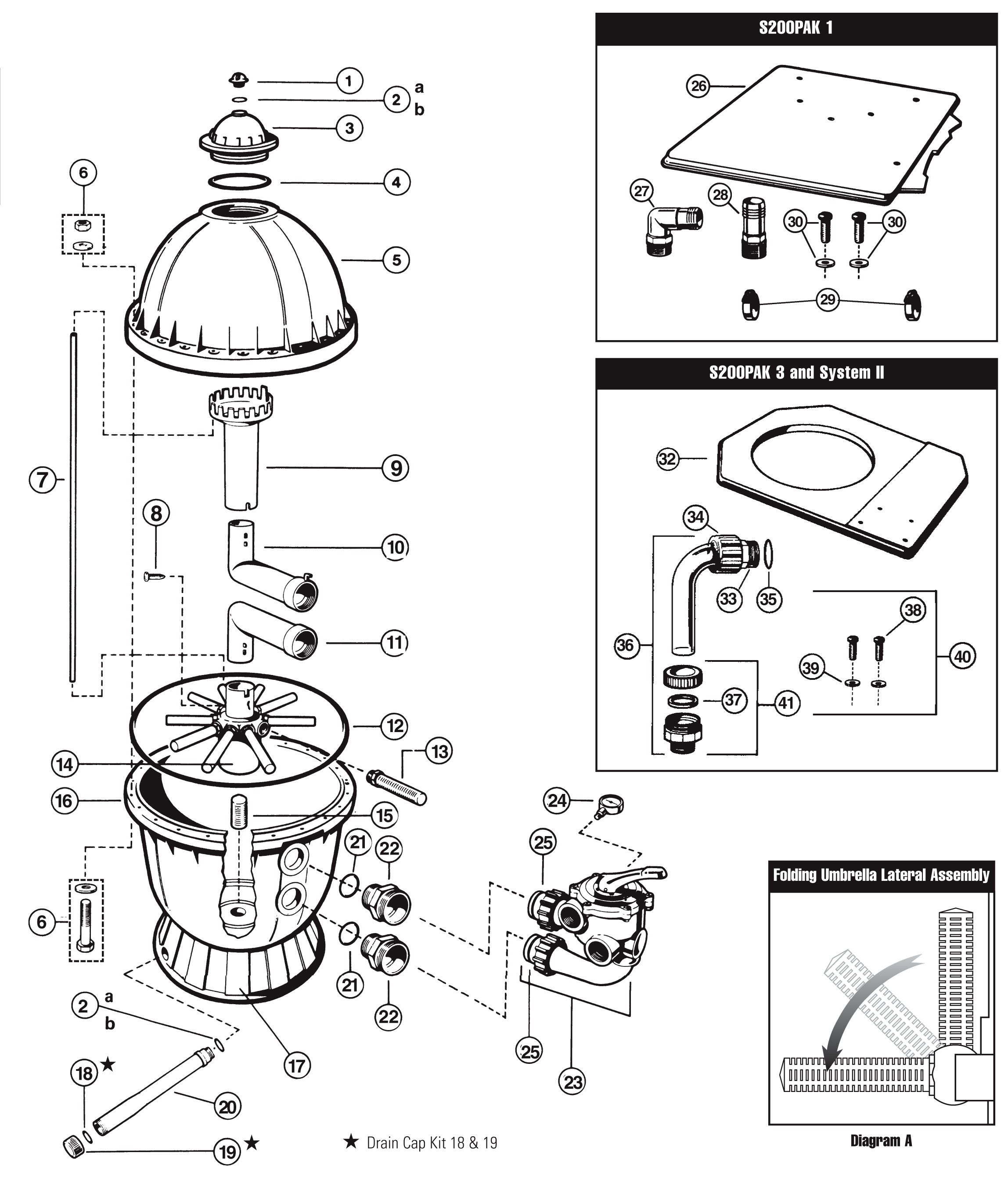 Hayward S140T S144T Diagram hayward sand filter parts  at panicattacktreatment.co